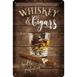 Nostalgic Art Schild Metall Whiskey Cigars 22257