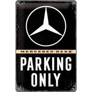 Blechschild Mercedes parking only