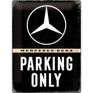 Blechschild Mercedes-Benz parking only