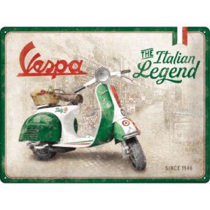 Blechschild 30x40cm Vespa Italian Legend