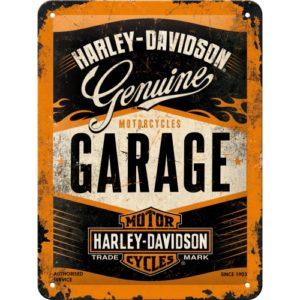 Blechschild 15x20cm Harley-Davidson