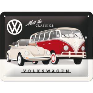 Blechschild 15x 20 VW meet the classic