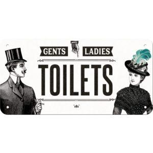 Hängeschild Ladies& Gentlemen's Toilets