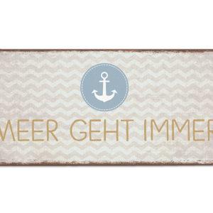 Schild Metall Meer 390814