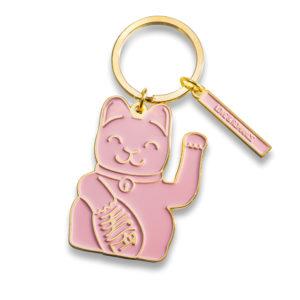 Schlüsselanhänger Lucky Cat pink/rosa