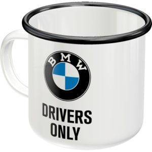Emaillebecher BMW Drivers Only