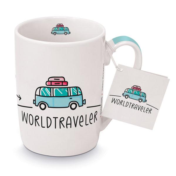 Becher Porzellan Worldtraveler