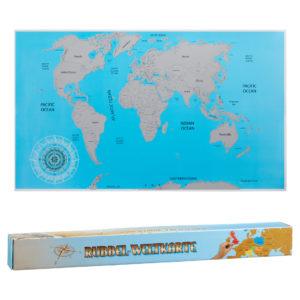 Rubbel Weltkarte, wo Du schon überall gewesen bist