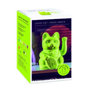 Lucky Cat Neongrün