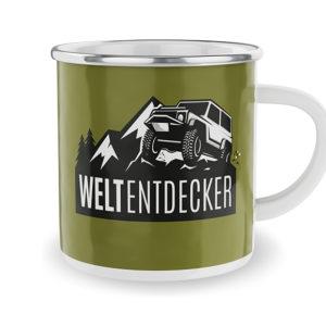 la Vida 917619 Emaillbecher Weltentdecker