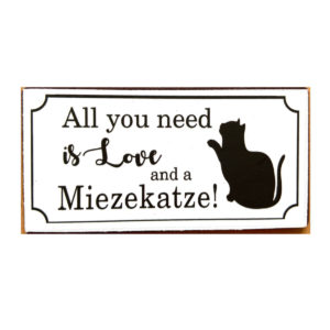 Magnet All you need is love and a Miezekatze