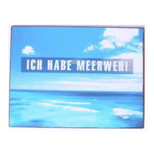 Schild Metall: Ich habe Meerweh