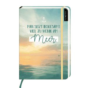 Notizbuch Man sitzt zu wenig am Meer