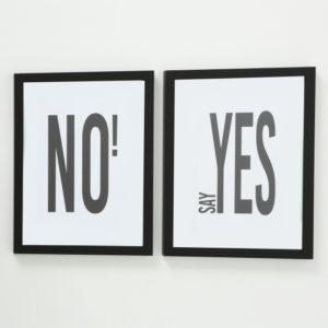 Bilderrahmen 2 Stück Say yes und No