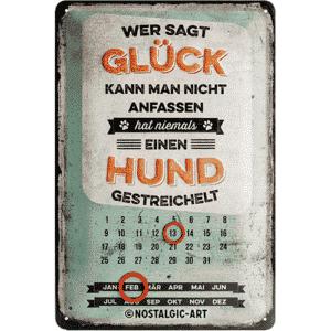 Metallschild Kalender Hund 22270