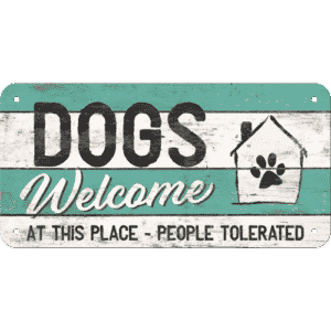 Schild Dogs welcome 28015