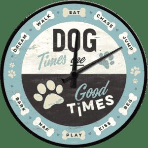 Wanduhr mit dem Spruch Dog times good times51089