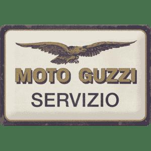Blechschild 20x30cm Moto Guzzi Servizio