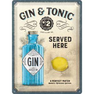 Blechschild 30x40cm Gin Tonic