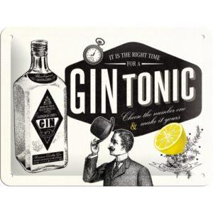 Blechschild 15x20cm Gin Tonic