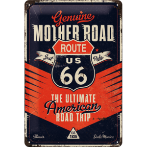 Blechschild 20x30cm Route 66 the ultimativ Road Trip