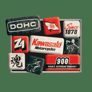 Magnetset (9teilig)Kawasaki Motorräder seit 1878