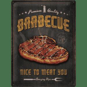 Blechschild 30x40 cm Barbecue