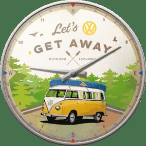 Wanduhr VW Bulli Let's get away