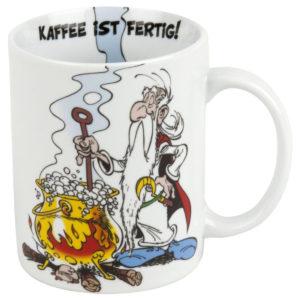 Becher Asterix Kaffee ist fertig