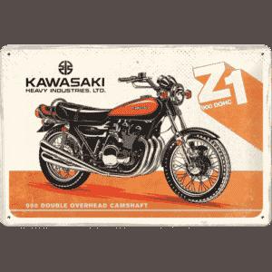 Blechschild 20x30 Kawasaki Motorcyle Z1