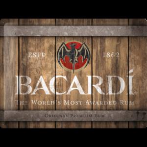Blechschild 30x40 Bacardi