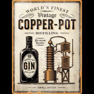 Blechschild 30x40 Copper Pot Gin