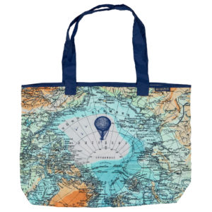 Faltbare Tasche Weltkarte