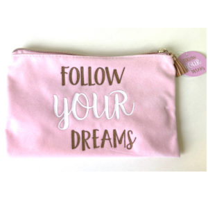 osmetiktasche Follow your dreams