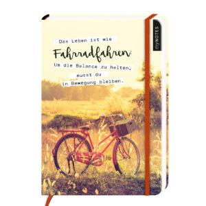 Notizbuch A5 Leben ist Fahrrad fahren.j