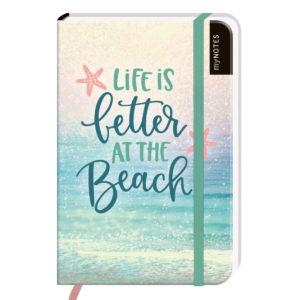Notizbuch klein, Life is better at the beach