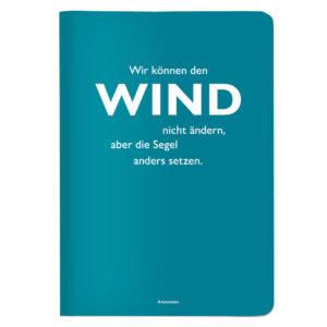 Notizheft A5 Wir können den Wind