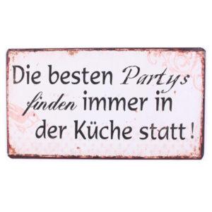 Schild Metall Die besten Partys