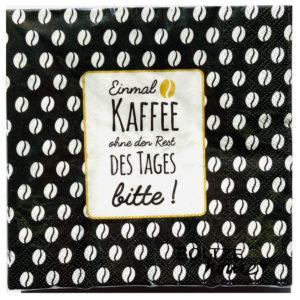 Servietten Einmal Kaffee ohne den Rest des Tages