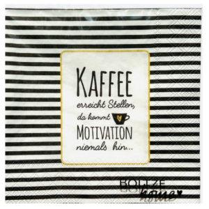 Servietten Kaffee erreicht Stellen
