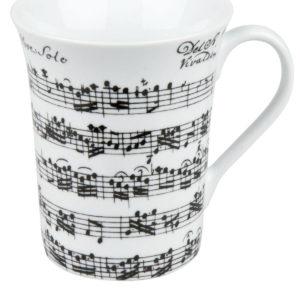 Becher Porzellan Vivaldi weiß