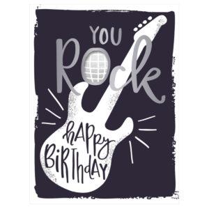 Musikkarte You rock, Happy Birthday