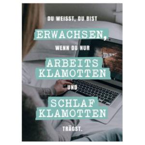 Postkarte mit Spruch