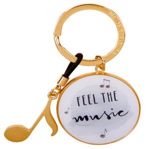 Schlüsselanhänger Musik gold
