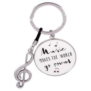 Schlüsselanhänger Musik silber