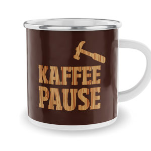 Emaille-Becher Kaffee-Pause