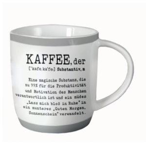 Tasse Porzellan Kaffee