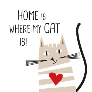 Home is where my Cat is Serviette