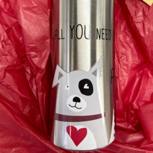 Edelstahltrinkflasche All you need is love and a dog