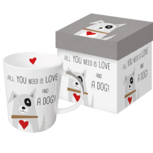 Tasse in Geschenkbox All you need ist love and a dog